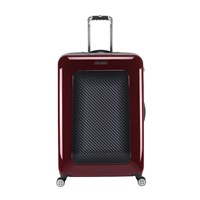 Ted Baker Burgundy Graphite Suitcase Large