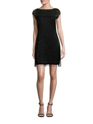 Aidan Mattox Beaded Cap Sleeve Cocktail Dress