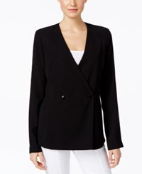 Alfani Prima Double Breasted Jacket Only At Macy's Deep Black