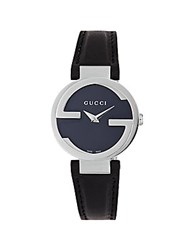 Gucci Diamond Sapphire And Stainless Steel Watch Black