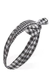 Forever 21 Wire Bow Gingham Headwrap