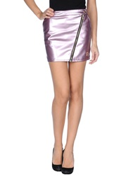 Maison Espin Mini Skirts Lilac