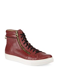 Andrew Marc New York Remsen Lace Up Sneakers Oxblood