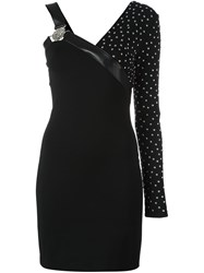 Versus Studded One Shoulder Dress Black