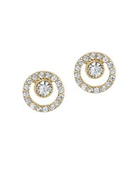 Laundry By Shelli Segal Hollywood And Vine Open Circle Stud Earrings Gold