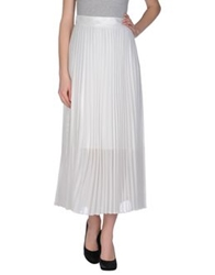 Space Style Concept Long Skirts White