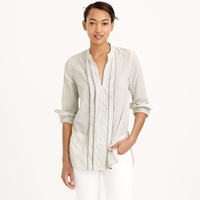 J.Crew Petite Corded Popover Tunic In Grey Stripe