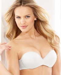 Lily Of France Gel Pad Strapless Push Up Bra 2111121 White