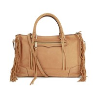 Rebecca Minkoff Women's Fringe Regan Satchel Almond