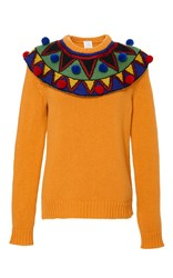 Stella Jean Comporre Pom Pom Sweater Yellow