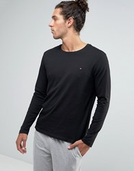 Tommy Hilfiger Icon Long Sleeve Top In Black Black