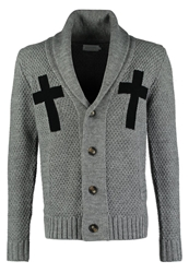 Eleven Paris Korax Cardigan Grey Chine Mottled Grey