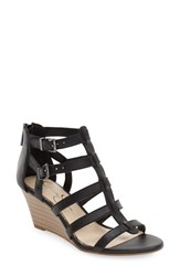 Women's Jessica Simpson 'Shalon' Wedge Sandal Black Leather