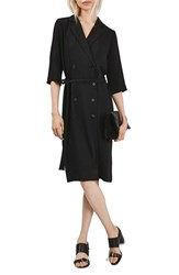 Topshop Women's Double Breasted Wrap Midi Dress
