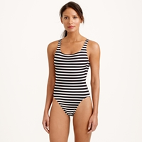 J.Crew Long Torso Sailor Stripe Scoopback One Piece Swimsuit