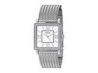 Guess U0826l1 Silver Mesh White Watches