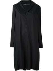 Rundholz Hooded Shirt Dress Black