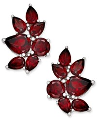 Macy's Rhodolite Garnet Drop Earrings 10 Ct. T.W. In Sterling Silver