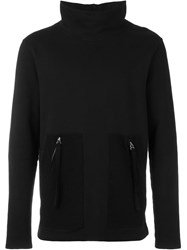 Blood Brother Turtle Neck Sweatshirt Black