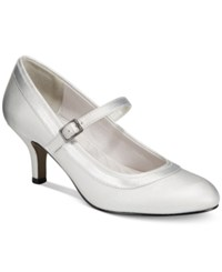 Easy Street Shoes Cecilia Mary Jane Pumps Women's Silver Satin