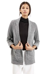 Topshop Boyfriend Herringbone Jacket Grey