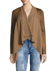 Context Faux Leather Flyaway Jacket Distressed Natural