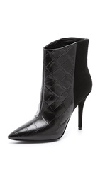 Brian Atwood Djuna High Heel Booties Black Black