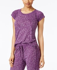 Alfani Raglan Sleeve Pajama T Shirt Only At Macy's Purple Spacedye