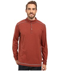 Ecoths Max Pullover Henna Men's Long Sleeve Pullover Brown