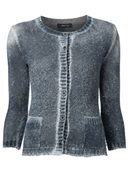Avant Toi Distressed Round Neck Cardigan