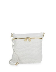 Dolce Vita Quilted Crossbody Bag White