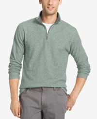 Izod Men's Textured Quarter Zip Sweater North Atlantic