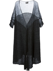 Lost And Found Short Sleeve Draped Cardigan Grey
