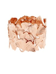 Aurelie Bidermann Ginkgo Rose Gold Plated Wide Cuff