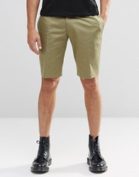 Religion Skinny Smart Shorts In Khaki Khaki