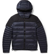Burberry Brit Faille Tried Quilted Shell Down Jacket Navy