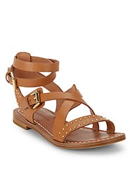 Sigerson Morrison Ainsley Studded Leather Sandals Tan