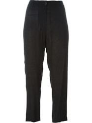 Ann Demeulemeester Loose Fit Trousers Black