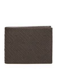 Bloomingdale's The Men's Store At Woven Bifold Wallet Brown