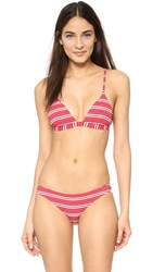 Zimmermann Roza Knit Triangle Bikini Stripe