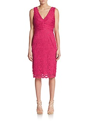 Abs By Allen Schwartz Lace V Back Sheath Dress