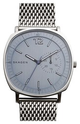 Men's Skagen 'Rungsted' Mesh Strap Watch 40Mm Silver Grey