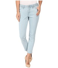 Jag Jeans Petite Penelope Mid Rise Slim Ankle In Supra Colored Denim Mineral Pool Women's Blue
