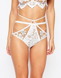For Love And Lemons Skivvies For Love And Lemons Ruby Cross Front Brief White