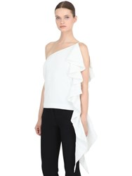 Cameo One Shoulder Cascading Ruffle Top