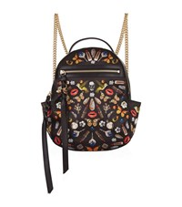 Alexander Mcqueen Obsession Print Chain Backpack Female Multi