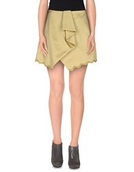 Uniqueness Skirts Mini Skirts Women Acid Green