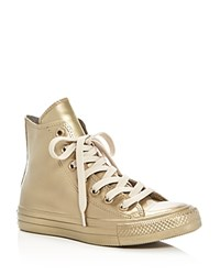 Converse Chuck Taylor All Star Metallic Rubber High Top Sneakers Gold