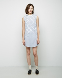 Band Of Outsiders Lattice Applique Shirtdress Denim
