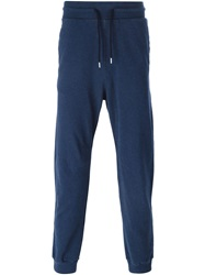 Armani Jeans Ribbed Cuffs Track Pants Blue